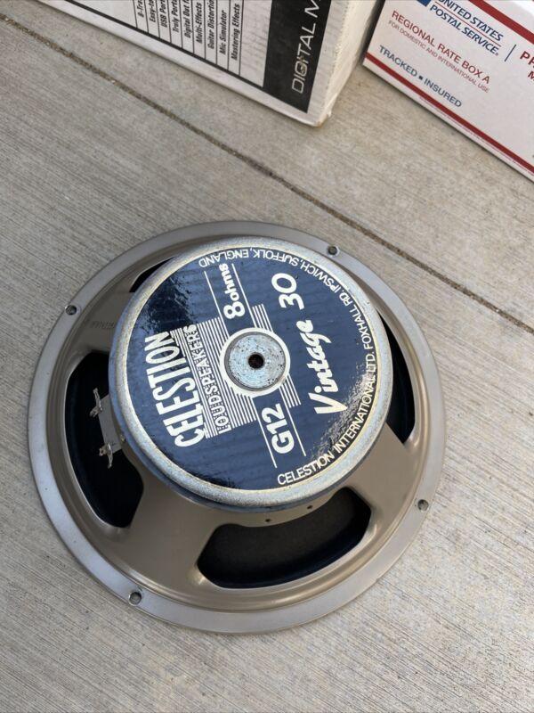 "Celestion Vintage 30 12"" Speaker Guitar Loudspeaker 8OHM G12 Dust Cap Bent"