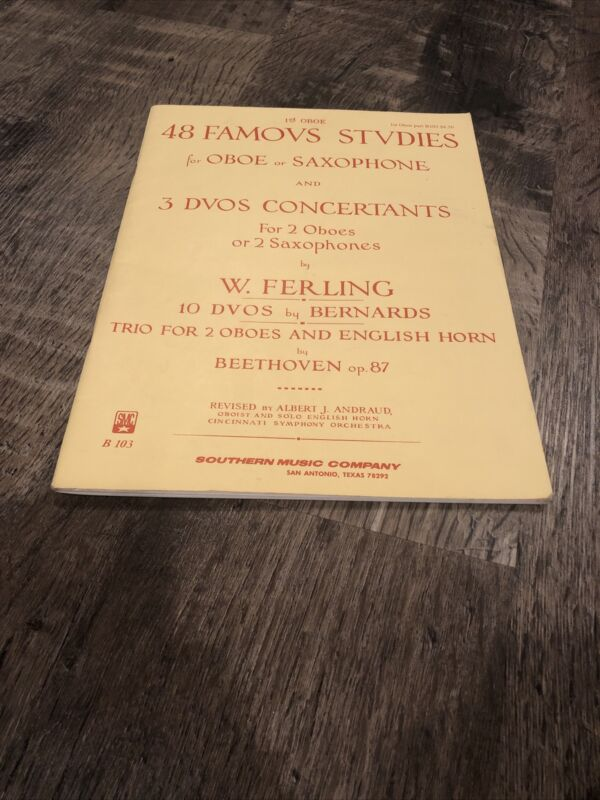 48 Famous Studies and 3 Duos Concertants for Oboe Or Saxophone by W. Ferling