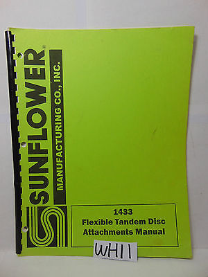 Sunflower Farm Book Attachments-part Manual Flexible Tandem Disc 1433