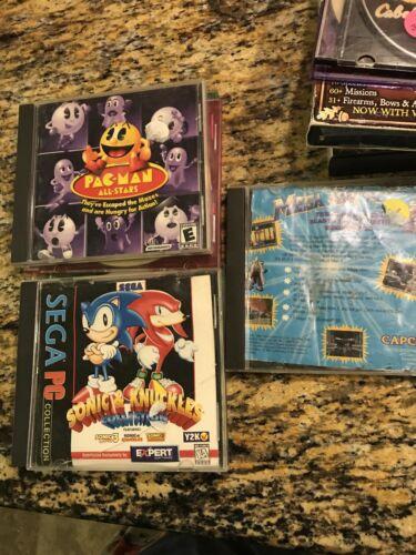 Computer Games - Sonic, Pacman, Mega Man Computer Games Windows 95/98