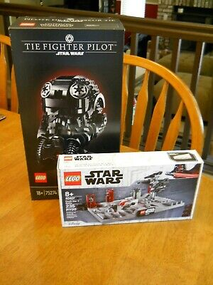 Lego Star Wars Lot of 2 75274 TIE Fighter Pilot Helmet 40407 Death Star II NEW