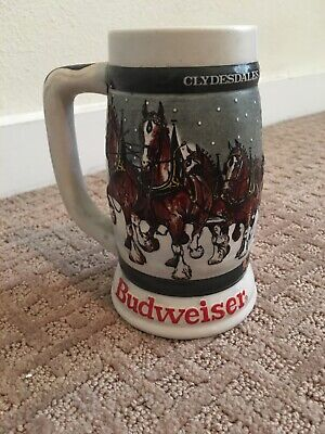 1933-1983 Budweiser 50th Anniversary Clydesdale Holiday Stein