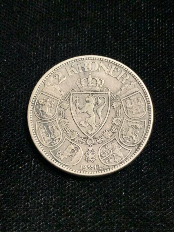 1912 - Norway Haakon VII Silver Coin 2 Kroner