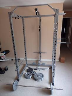 Power Rack/Cage + Bench + Weights