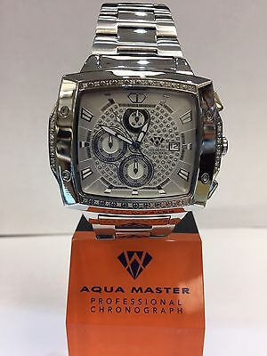 Men Aqua Master Jojo Jojino Joe Rodeo St Ste Metal Band 51Mm Diamond Watch W 354