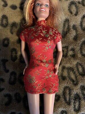 Spice Girls Doll Barbie Size On Tour Oriental Red Dress
