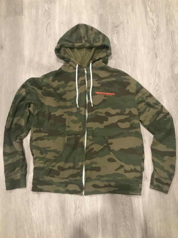 Terminator Dark Fate Promotional Hoodie Camouflage Size L Zip-up rare promo