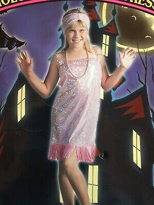 Child Flapper Roaring 20's Costume Hologram Lavender