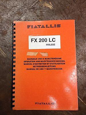 Fiat Allis Fx 200 Lc Operation Maintenance Manual