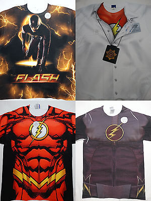 The Flash Barry Allen CW Dc Comics Front Only Costume Sublimation Print T-Shirt