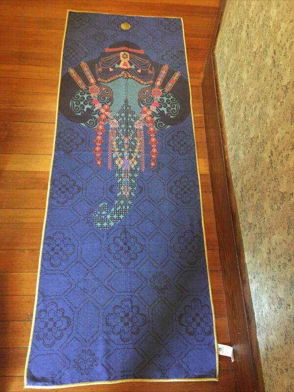 "Manduka Skidless by Yogitoes Yoga Mat TowelGanesha Elephant 68""x 24"" Rare"