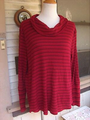 Блузка CHERRY RED/BURGUNDY STRIPED KNIT TOP/BLOUSE