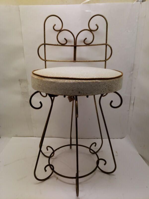 Vintage Mid Century Modern Vanity Chair