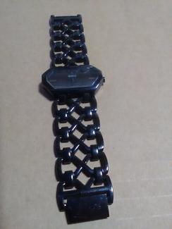 Genuine Mimco Designer Brand Womens Ladies Black Link Band Watch