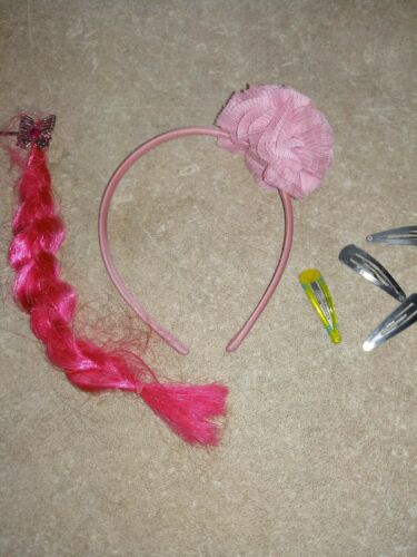 Haarreifen Mädchen pink mit Bommel Neu+ andere Sachen