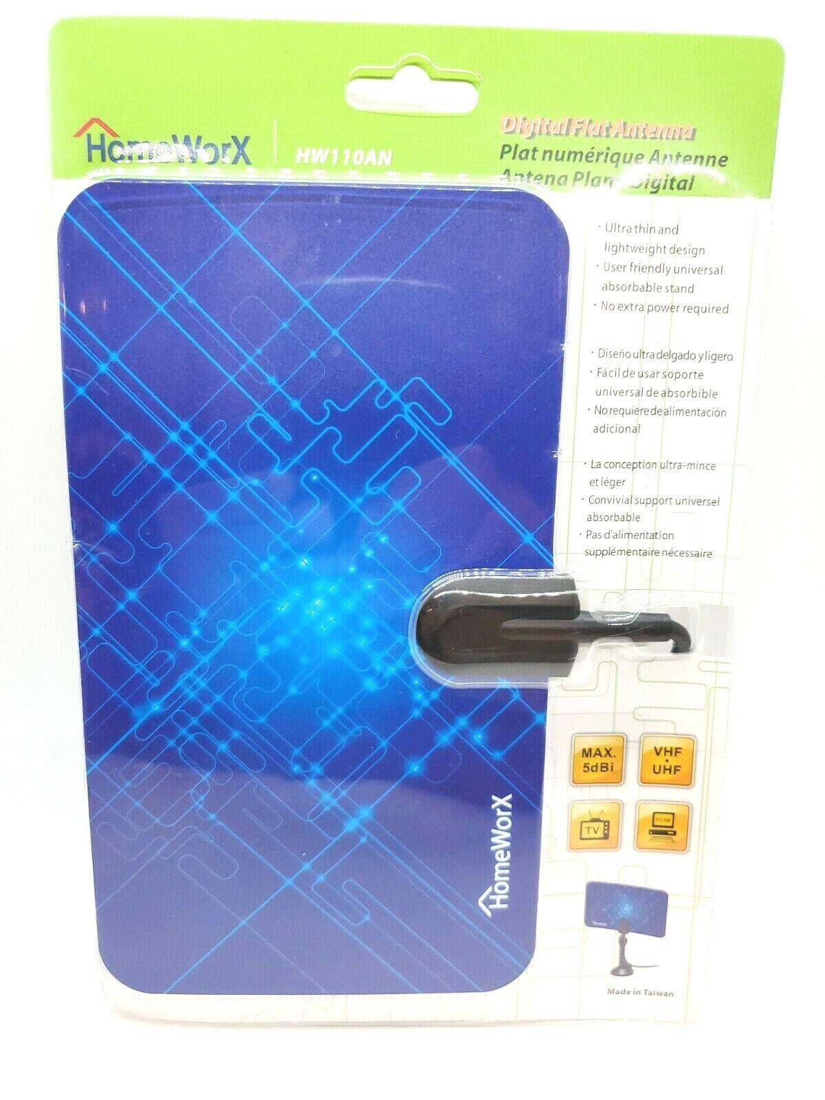 Mediasonic Homeworx HW110AN Super Thin Indoor HDTV Antenna -