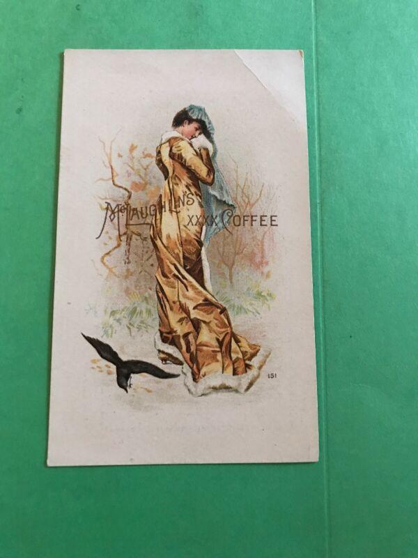 KK836 Rare 1888 Victorian Trade Cars Mclaughlins Coffee Calendar Excellent