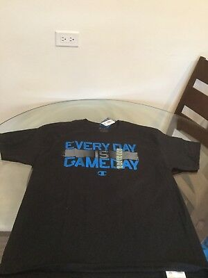 NWT Champion Every Day Is Game Day Black Blue T-Shirt XL Brand New With Tags!! Black Game Day T-shirt