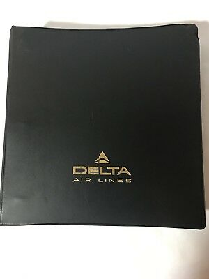 Vintage Delta Airlines Pilot Operating Manual Aviation Plane Collectible L1011