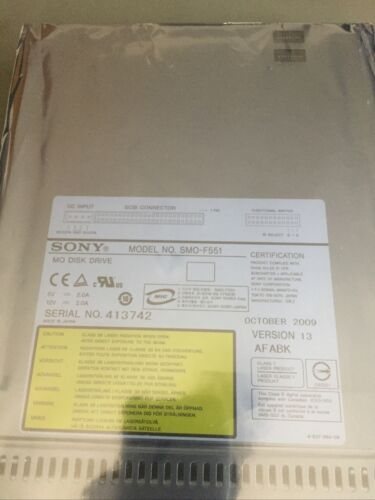 Sony SCSI internes optisches Laufwerk-Modell smo-f551 MO Disk Drive