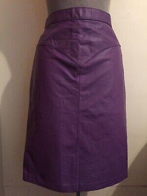 Wilsons Leather Vintage Purple A Line Skirt Size 14