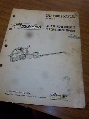 Ninew Idea 256 Mower Operator Manualrepair Part Listoriginal256 Mower1966
