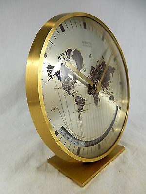 Schöne Kienzle Weltzeituhr Tisch Uhr world timer  table clock  working condition