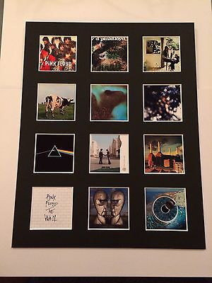 "PINK FLOYD DISCOGRAPHY PICTURE MOUNTED 14"" By 11"" READY TO FRAME"