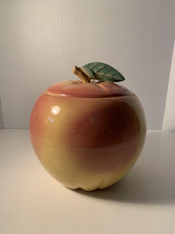 Vintage Cookie Jar Big Peach Collectible