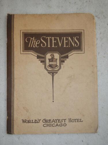 The Stevens Hotel Chicago IL scarce Brochure Late 1920