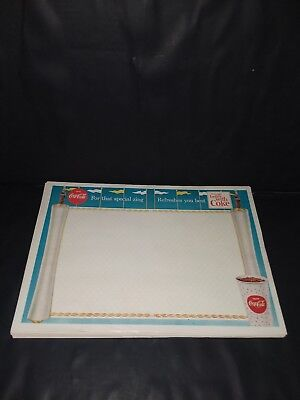 Lot Of 12 / Vintage 60s Coca cola Soda Fountain Paper Dinner Place Mats...