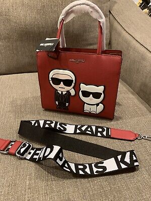 Karl Lagerfeld Maybelle Satchel NEW Crimson