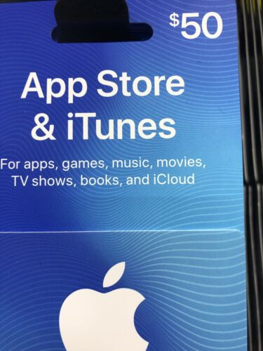 Apple App Store ITunes 50 Physical Gift Card - $47.00
