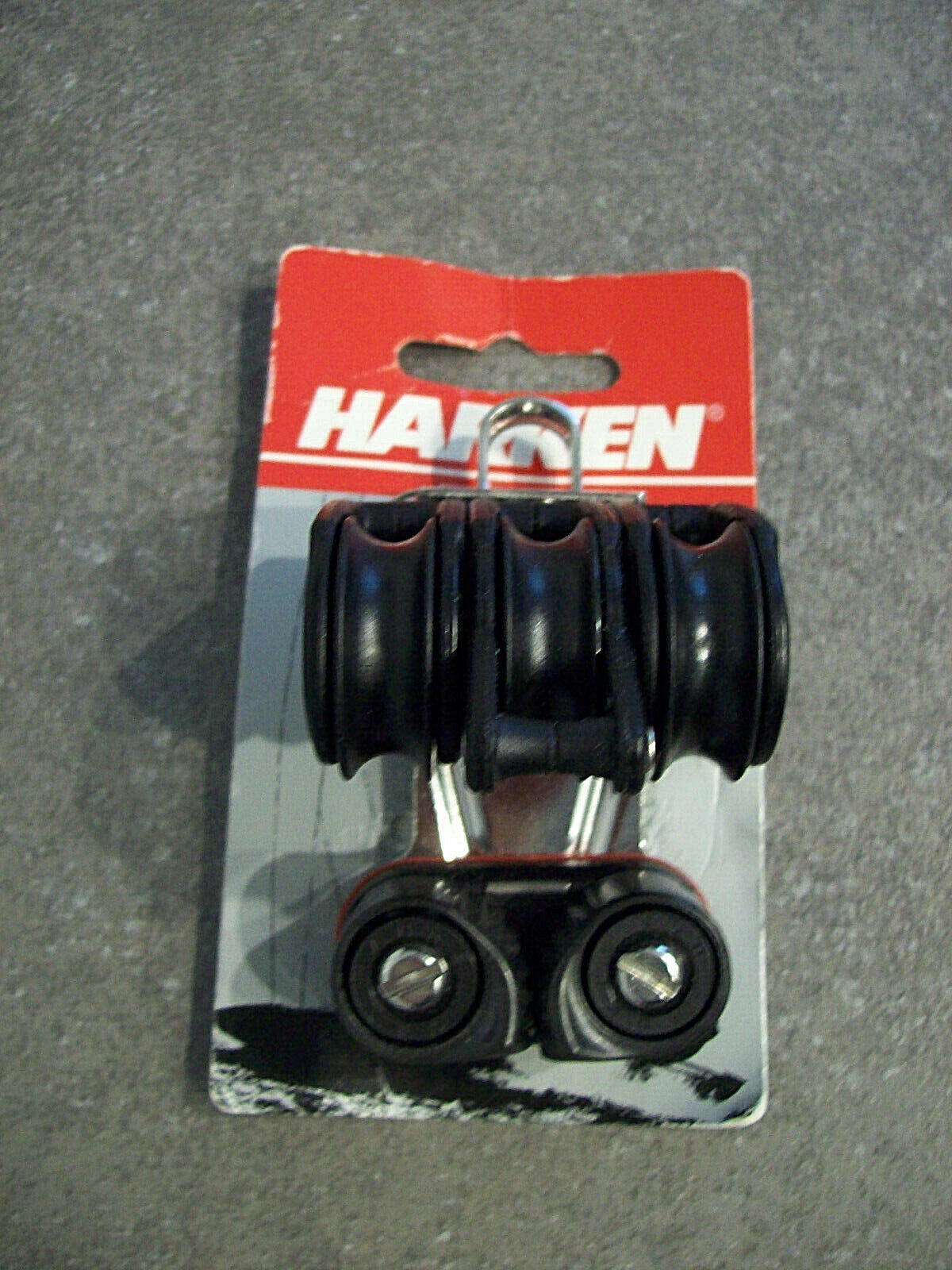 Harken 347 Carbo Airblock 29mm Triple W/Cam & Becket NEW