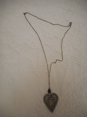 Sterling Silver Love Heart Pendant Necklace 7.65g for sale  Shipping to South Africa