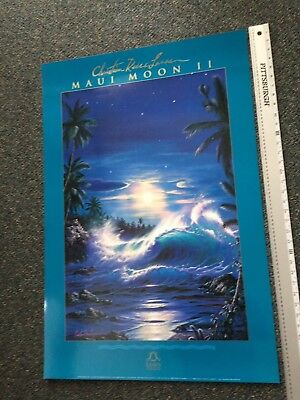 "Christian Lassen 24"" X 36"" Art Poster Maui Moon II (1992) Lassen Pub. Excellent"