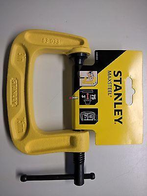 """Stanley 0-83-033  Maxsteel®  """"C"""" Zwinge Länge/Spannweite: 75 mm Ausladung: 56 mm"""