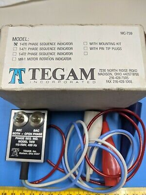 T-470a Tegam Phase Sequence Indicator 115-700v 400 Hz One