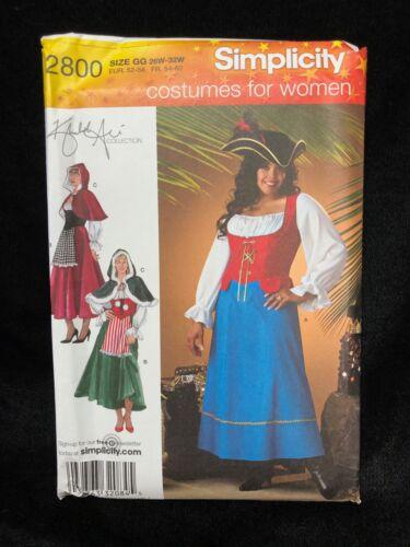 Simplicity Sewing Pattern 2800 Khaliah Ali Women Costume Size GG 26W-32W