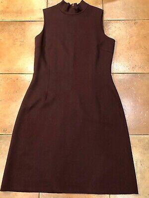 BURBERRY Maroon Sleeveless Dress UK 14. Super Condition