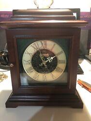 Bulova Symphony Mantel Clock Solid Wood Walnut B1873