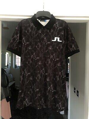 Mens J.Lindeberg Golf Polo Shirt Size Medium Regular Fit, Pristine Condition