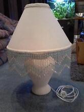 Cream table lamp with handbeaded trim Traralgon Latrobe Valley Preview