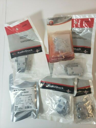 Lot of 7 RadioShack Shielded Metalized D-Sub Hood Connector, #276-1513