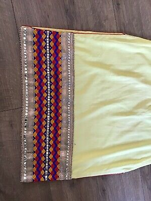 Bnwot 3 Piece Yellow/red Indian/bollywood Outfit Punjabi Salwar Suit Size 16