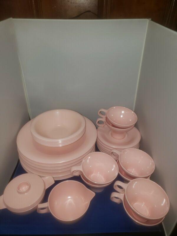 Melmac Pink Dinnerware Russel Wright Flair