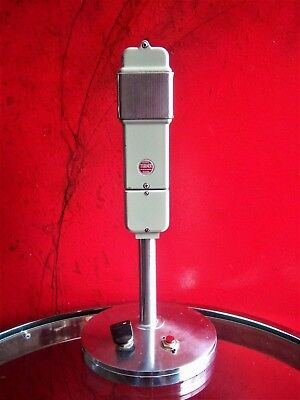 Vintage RARE 1950's Turner 98 dynamic cardioid microphone deco old w 423A stand