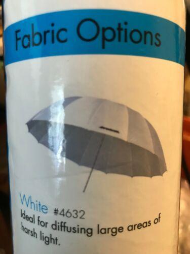 Westcott 4632 7-Feet White Diffusion Parabolic Umbrella, NEW