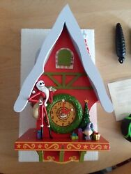 Rare Disney Nightmare Before Christmas Town Cuckoo clock.  Made in Germany.