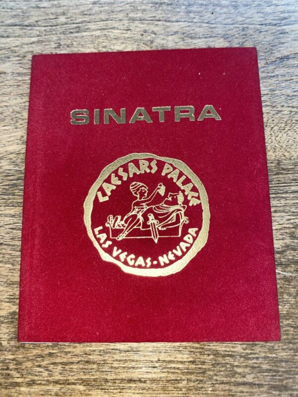 Frank Sinatra Caesars Palace Las Vegas Table Card Program 1970s Circus Maximus